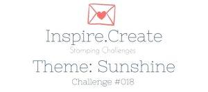 Inspire.Create.Challenge Card making Theme Challenge Sunshine
