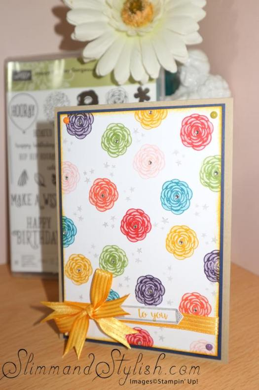Bold and Bright card using Happy Birthday Gorgeous from Stampin' Up!
