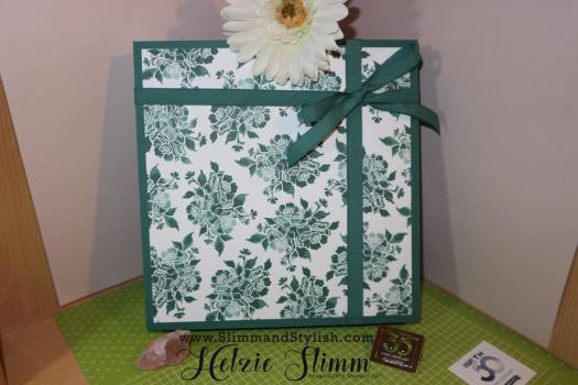 Memories and More Gift Box using Stampin' Up! Designer Series Paper with Slimm and Stylish