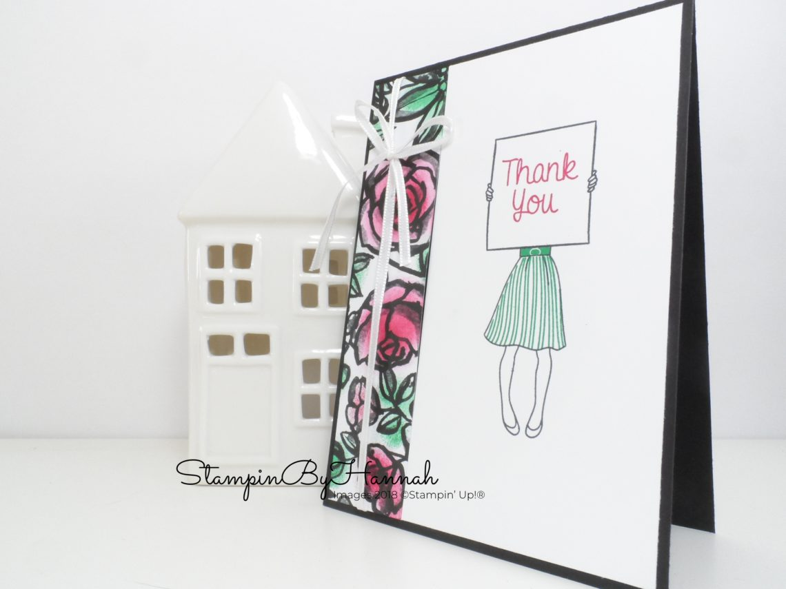 April Customer Thank You Card using Hand Delivered from Stampin' Up!