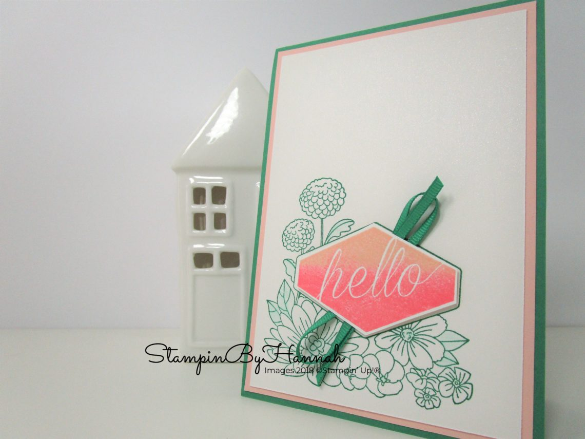 A fun way to use ribbon on your cards with Accented blooms from Stampin' Up!