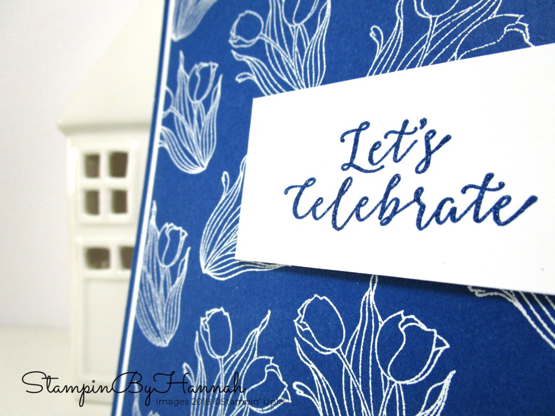 Bold Celebration Card using In Every Season and Blueberry Bushel from Stampin' Up!