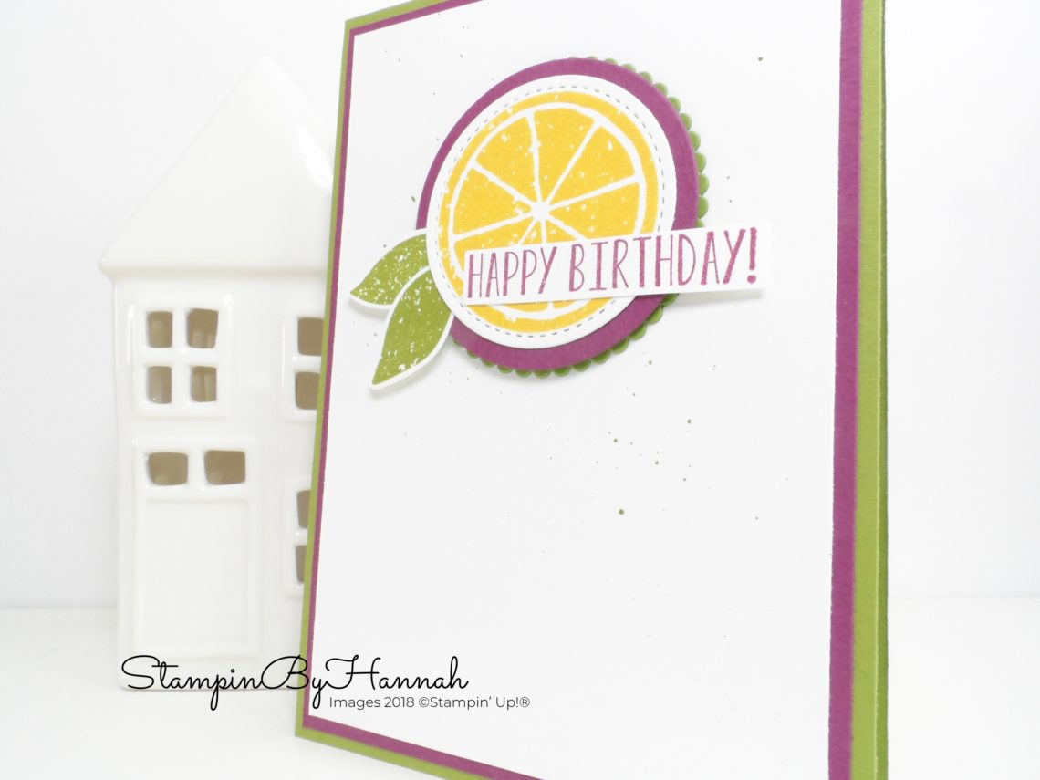 Inspire.Create.Challenge Card making Theme Challenge Lemon Zest Birthday Card using Stampin' Up! products
