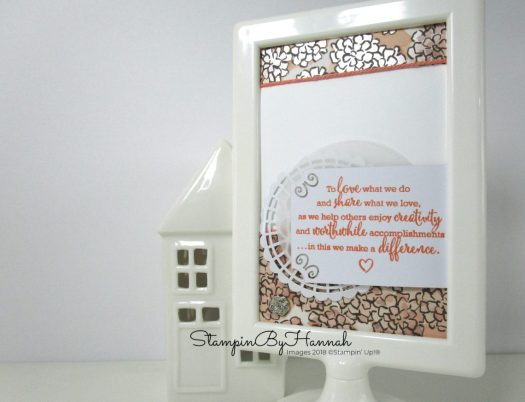 Stampin' Up! Statement of the Heart Craft Room Home Decor Frame using Share What You Love Designer Series Paper