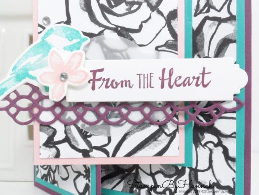 How to make a fancy fold Joy Fold card using Petal Palette and Petal Passion from Stampin' Up!