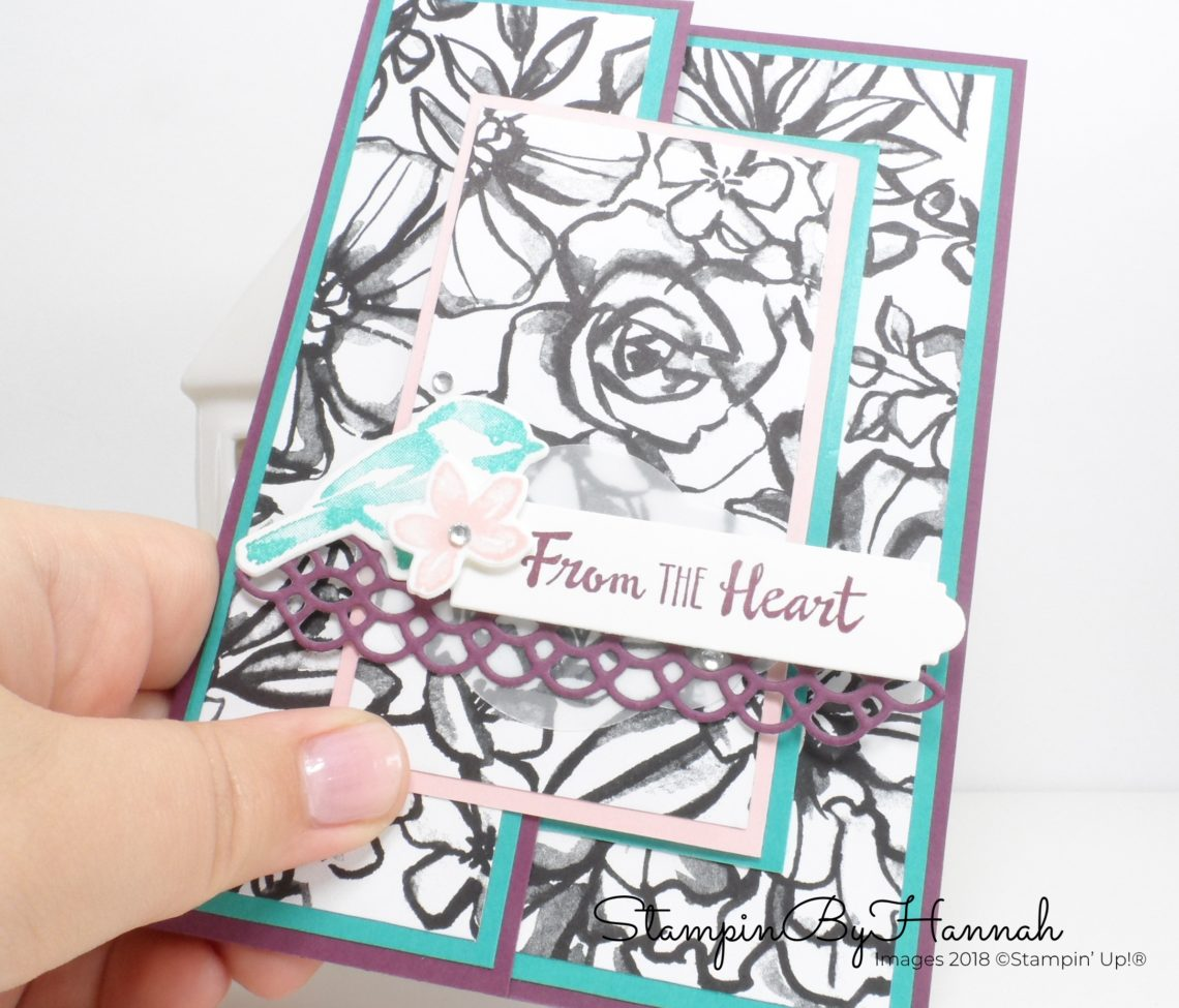 Petal Palette Fancy Fold Card for Kylie's International Blog Highlights using Stampin' Up! products