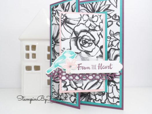 Fun Joy Fold Card using Petal Palette from Stampin' Up!