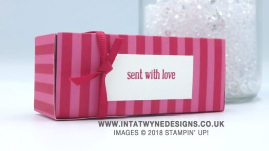 Bright and fun mini gift box using In Colour Designer Series Paper by Intatwyne Designs using Stampin' Up! products