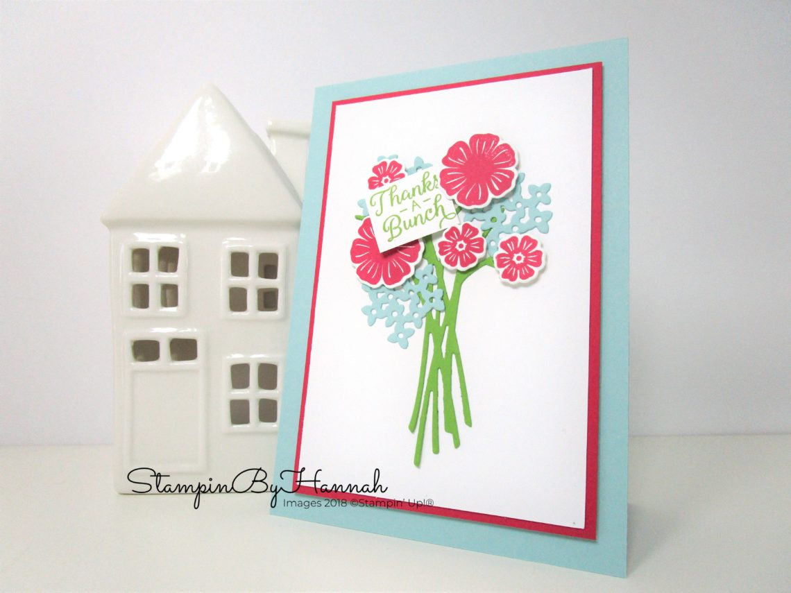 Make It Monday Card making Video Tutorial Thank You Card using Beautiful Bouquet Stamp Set from Stampin' Up!