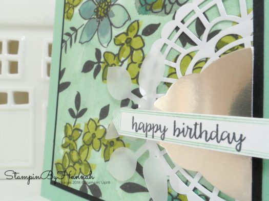 Make It Monday How to make a birthday card using Patterned Paper using Share What You Love from Stampin' Up!