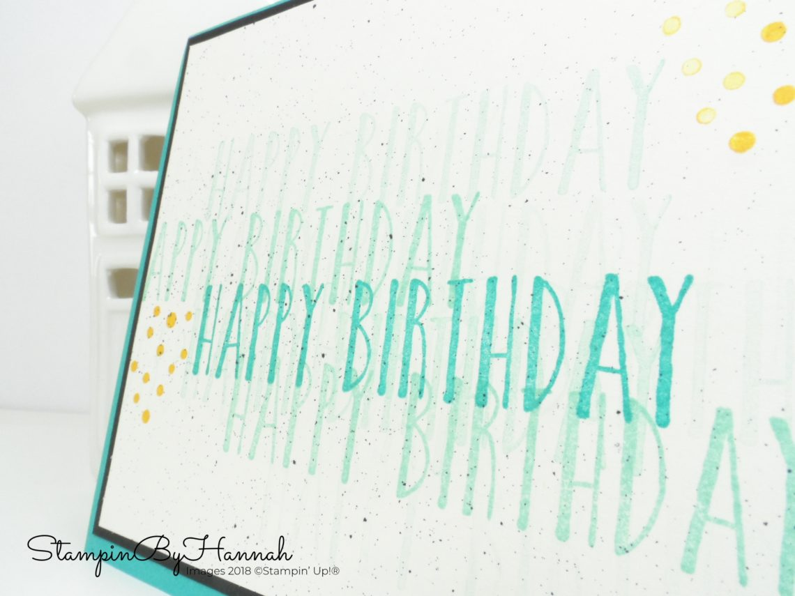 Simple Man's birthday card using Perennial Birthday from Stampin' Up!