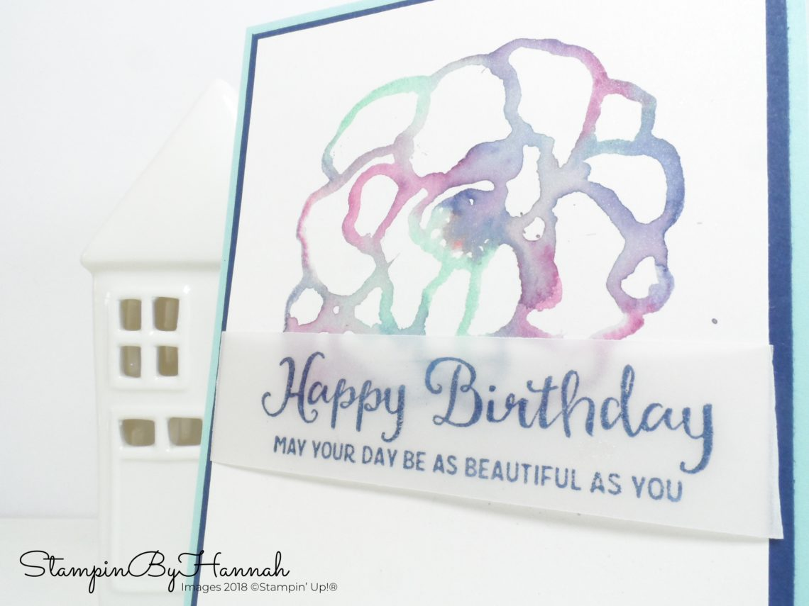 How to do watercolour stamping using colouring pens with Stampin' Write Markers from Stampin' Up!