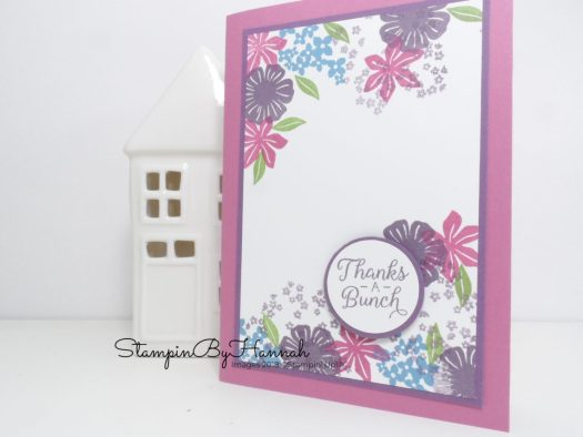 How to use small stamps to create a fun Thank You card using Beautiful Bouquet from Stampin' Up!