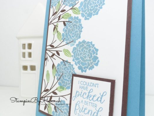 Marina Mist and Chocolate Chip Friendship card using Beautiful Bouquet from Stampin' Up!