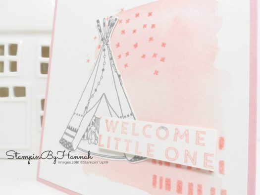 Cute Teepee Baby Card using Little One from Stampin' Up!