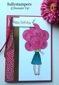 Sally's Hand Delivered Birthday Card using Stampin' Up! products