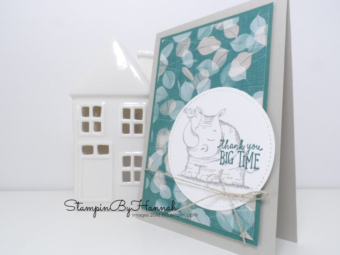 Facebook Live Video Tutorial How to make a male card using Animal Outing from Stampin' Up!