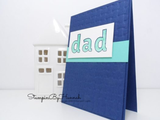 Watercolour Father's Day Card using Basket Weave Embossing Folder from Stampin' Up!