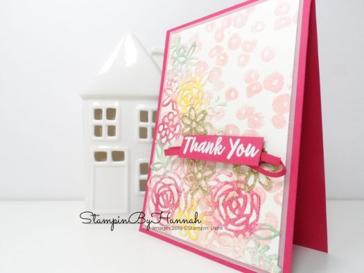 Create a fun floral card using dies and Abstract Impressions from Stampin' Up!