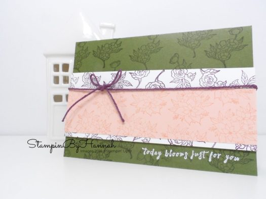 How to make a fun floral thank you card using In Every Season from Stampin' Up!