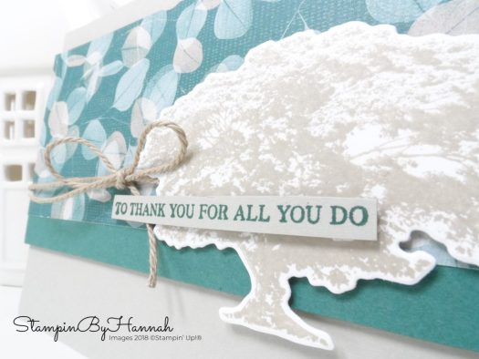 Thank you card using Rooted in Nature from Stampin' Up!
