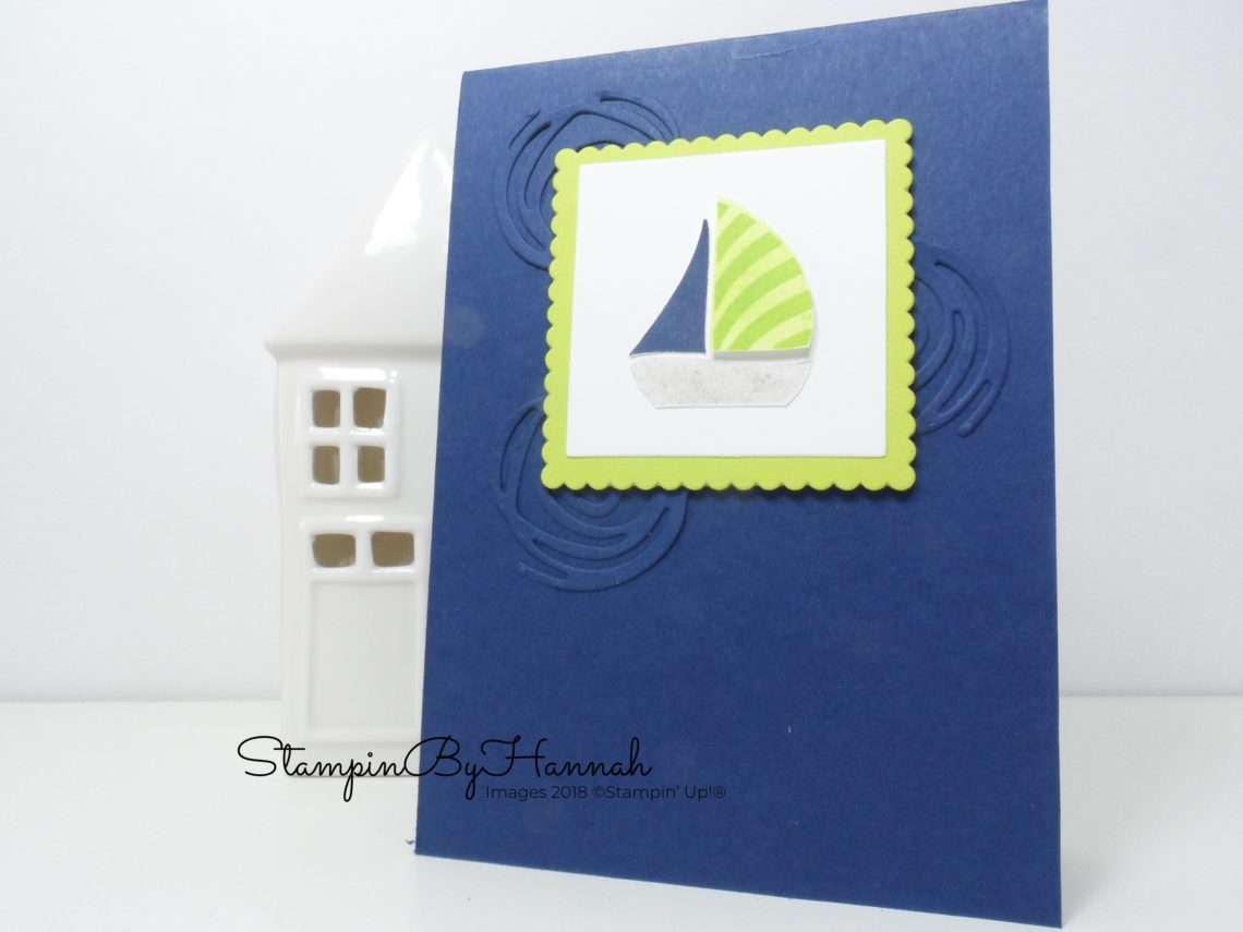 Fun card for a little boy using Swirly Bird from Stampin' Up!