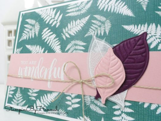 How to use Stampin' Up! embossing mats on the Natures Roots Framelits from Stampin' Up!