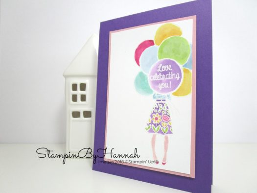 Fun watercoloured Congratulations using Hand Delivered from Stampin' Up!
