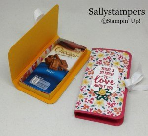 Designer Series Paper Chocolate Box by Sally Shaw using Stampin' Up! products