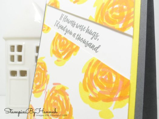 Bright and bold friendship card using Abstract Impressions from Stampin' Up!
