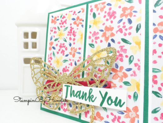 Pretty Floral Patterned Paper Card using Garden Impressions from Stampin' Up!