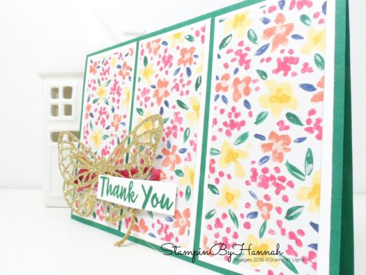 Bold Butterfly Card using Abstract Impressions from Stampin' Up!