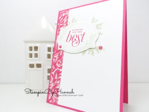 Fabulous Floral Best Wishes card using Garden Impressions and Floral Frames from Stampin' Up!