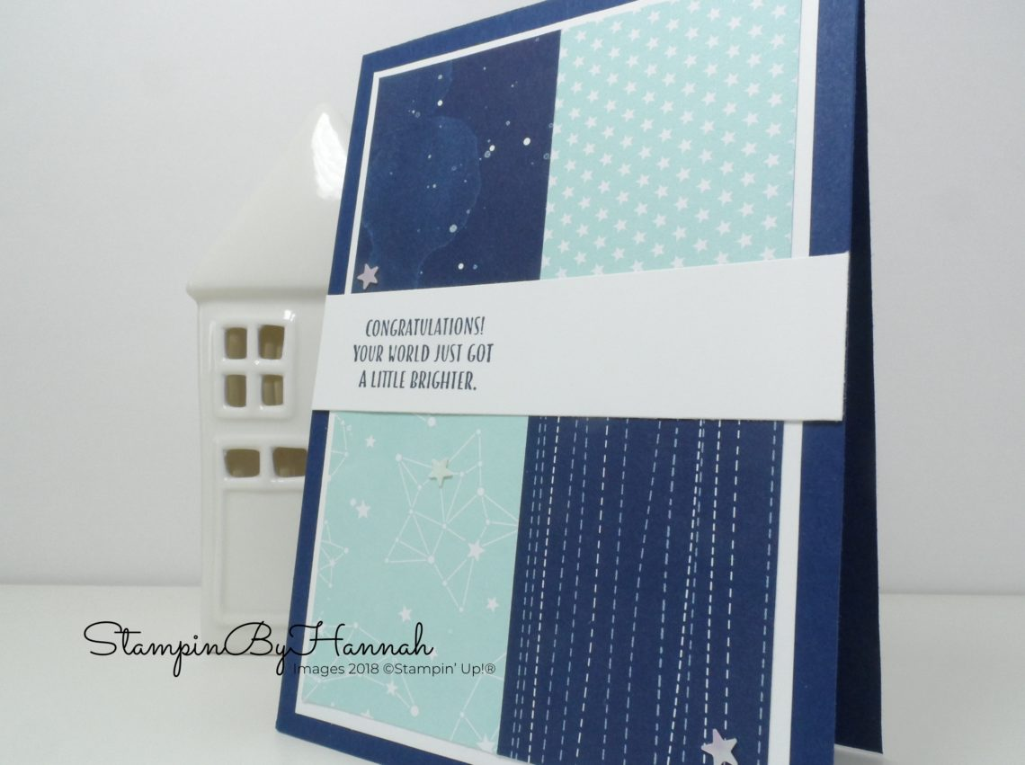 How to use Designer Series Paper in your card making featuring Twinkle Twinkle from Stampin' Up!