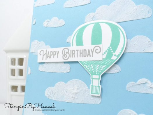 Fun Birthday Card using Embossing Paste and Lift me up from Stampin' Up!