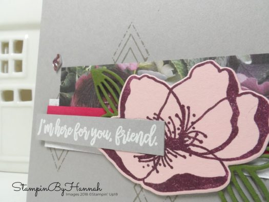 How to layer Designer Series Paper and Die cuts with Beautiful Promenade from Stampin' Up!