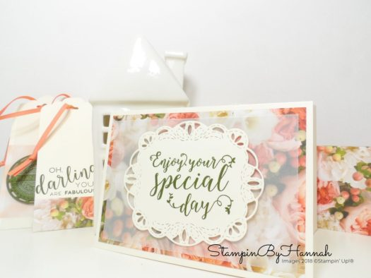 Pretty floral note cards using patterned paper using Stampin' Up! products