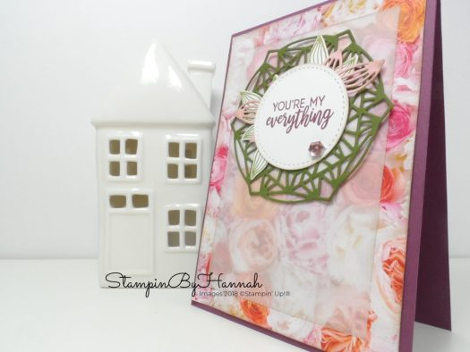 How to use Designer Series Paper on a card using Petal Promenade from Stampin' Up!
