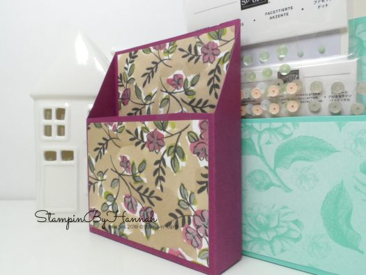 How to make a storage box for your cardmaking embellishments using Stampin' Up! Designer Series Paper