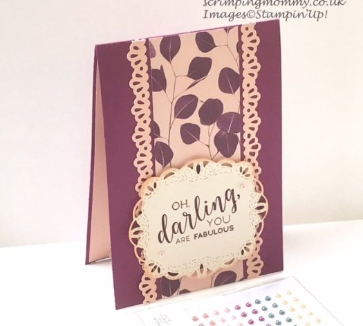 Gorgeous Nature's Poem Card using Designer Series Paper from Stampin' Up! from Amanda Charlesworth