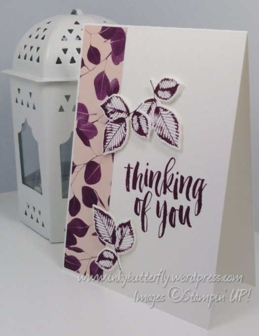 Fabulous Thinking of you card using Natures Poem Designer Series Paper from Stampin' Up! By Verity Pursglove