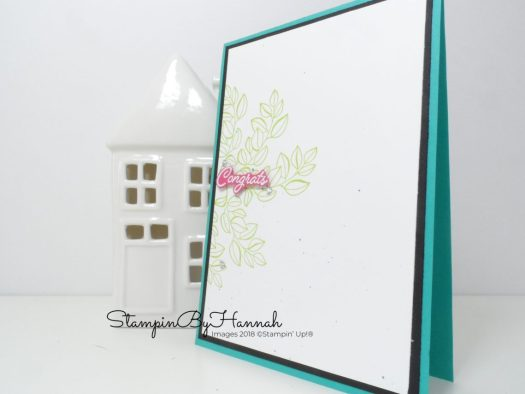 Colour challenge Congratulations card using Stampin' Up! products for Inspire.Create.Challenge