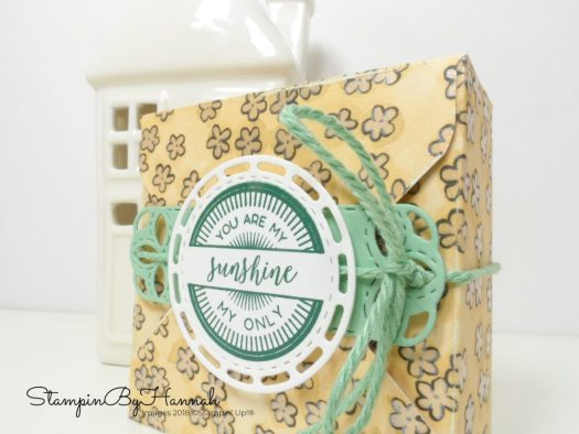 How to make a fun Teacher Gift using the Envelope Punch Board and Designer Series Paper from Stampin' Up!