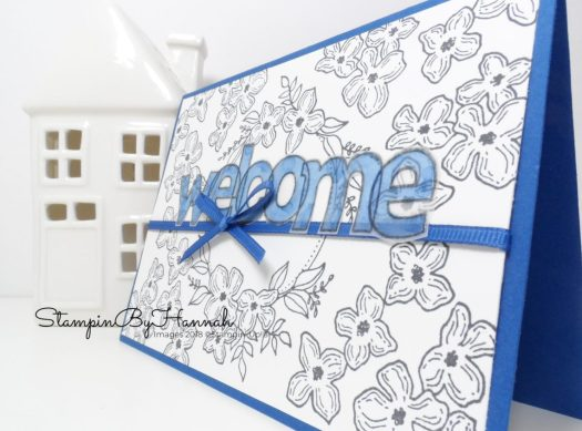 International Blog Hop Travel Welcome Card using Floral Frames from Stampin' Up!