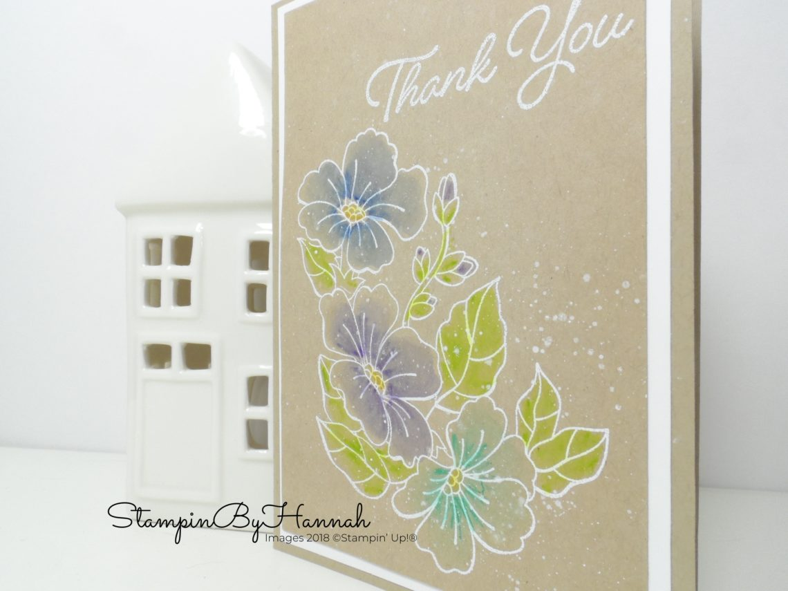 Make it monday Watercolour Pencils and Blended Seasons using Stampin' Up! products