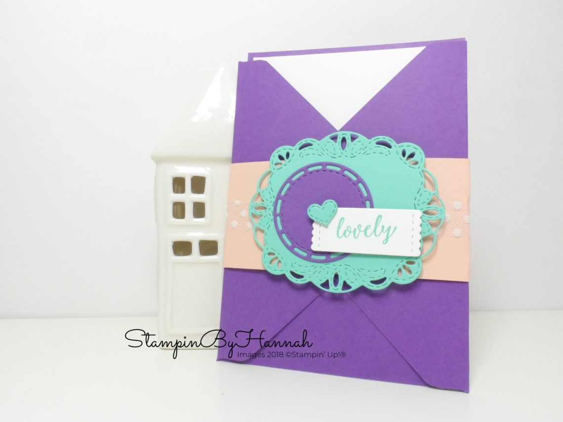 Make It Monday Video Tutorial How to make a Pocket Card using Stitched All Around from Stampin' Up!