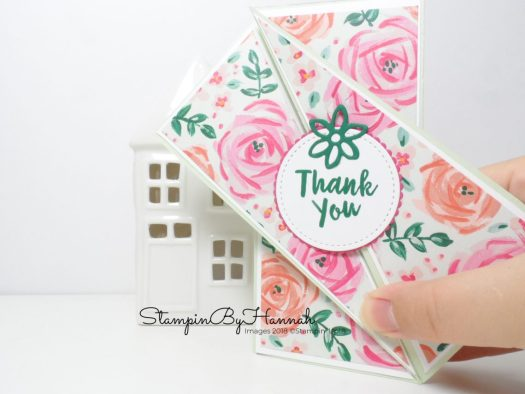Make It Monday Twisted Gate Fold Card using Abstract Impressions from Stampin' Up!