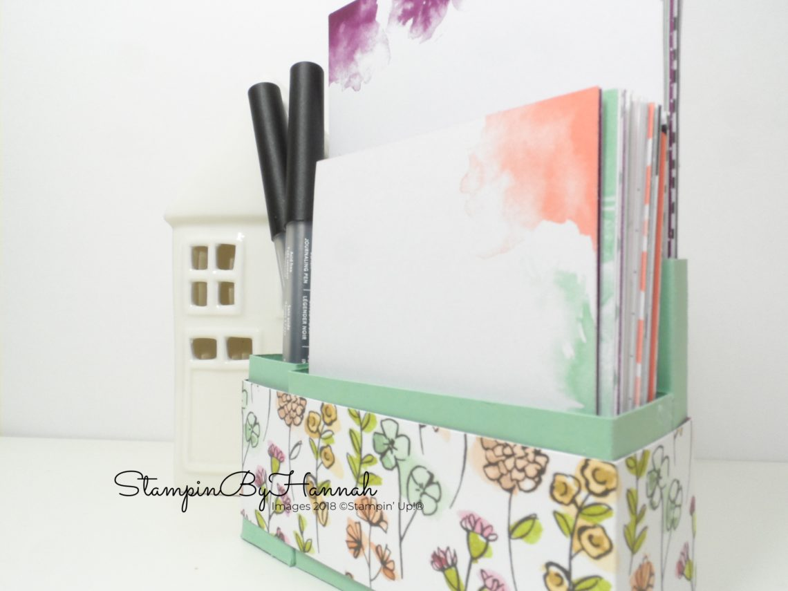 How to make a storage box for your Memories and More cards using Stampin' Up! card stock and Designer Series Paper