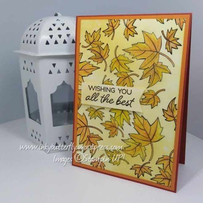 Autumn Wishes Watercolour Card using Blended Seasons from Stampin' Up! with Verity Pursglove