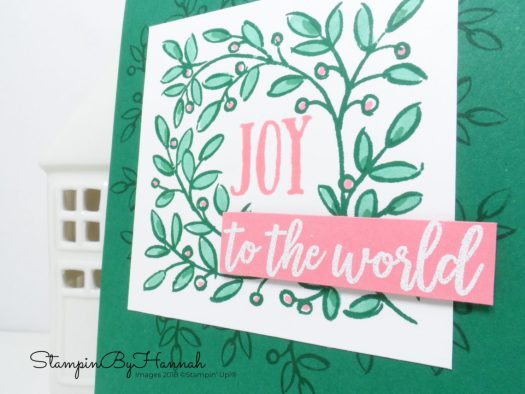 Christmas Countdown Simple Christmas Card using Feathers and Frost from Stampin' Up!